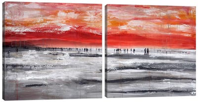 Beach IV Diptych Canvas Art Print
