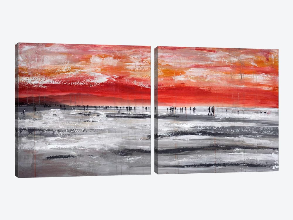 Beach IV Diptych by Clara Summer 2-piece Art Print