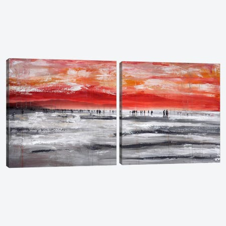 Beach IV Diptych Canvas Print Set #CSU2HSET002} by Clara Summer Canvas Print