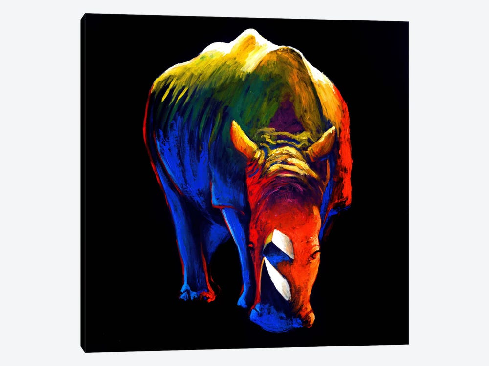 The Rhino by Clara Summer 1-piece Canvas Print