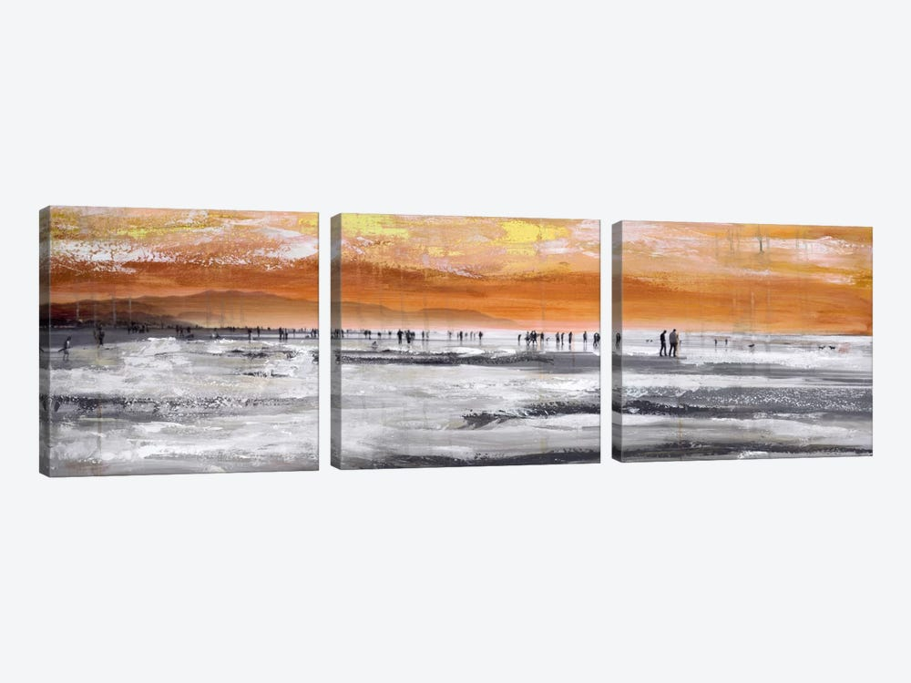 Beach II by Clara Summer 3-piece Canvas Art Print