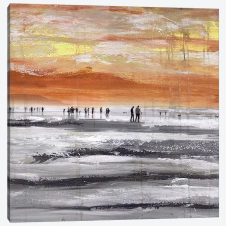 Beach II.A 3-Piece Canvas #CSU7} by Clara Summer Canvas Print