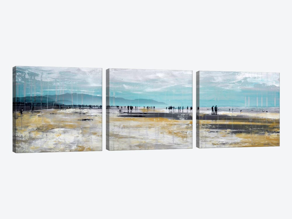Beach III by Clara Summer 3-piece Canvas Art Print