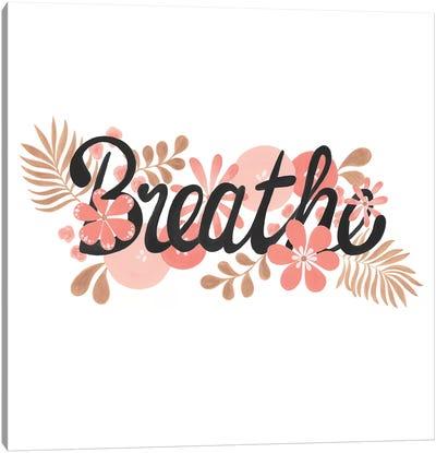 Breathe Black Square Paper Canvas Art Print