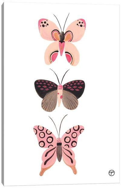 Butterfly Trio Canvas Art Print