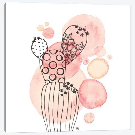 Cactus And Bubbles Small Canvas Print #CTA18} by CreatingTaryn Canvas Art Print