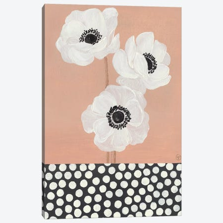 Caramel French Anemones With Polka Dots Canvas Print #CTA19} by CreatingTaryn Art Print
