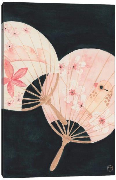 2 Paper Fans Canvas Art Print