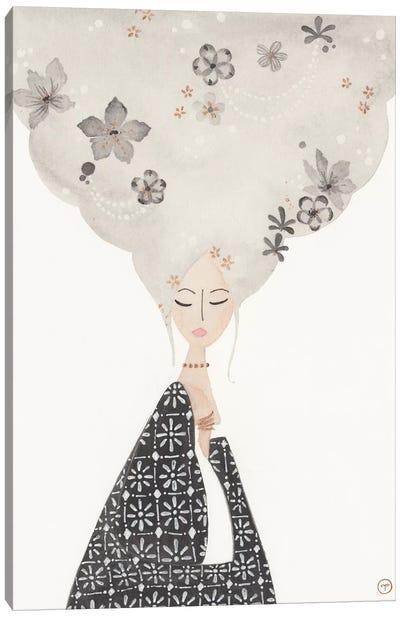Cloud Hair Canvas Art Print
