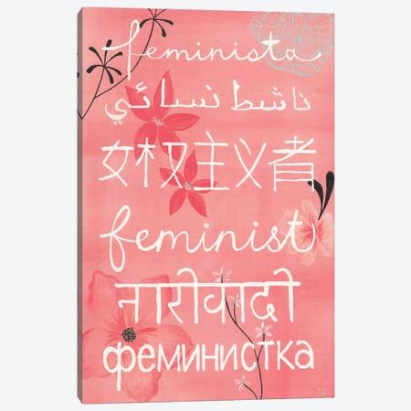 Everyone's A Feminist Canvas Print #CTA22} by CreatingTaryn Canvas Wall Art