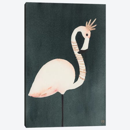 Flamingo And Crown Canvas Print #CTA24} by CreatingTaryn Art Print