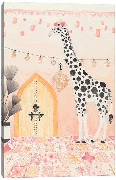 Giraffe In Morocco Canvas Art Print