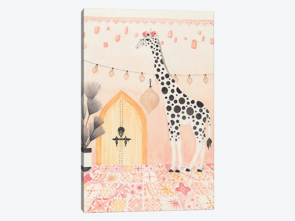 Giraffe In Morocco by CreatingTaryn 1-piece Canvas Art Print