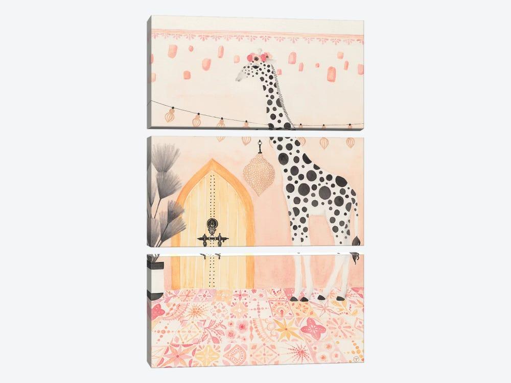 Giraffe In Morocco by CreatingTaryn 3-piece Canvas Print