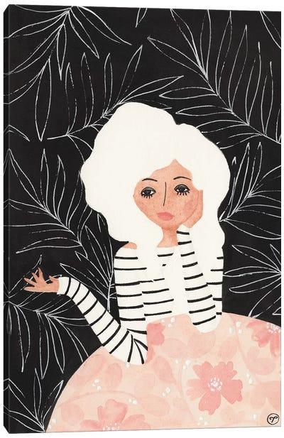 Girl At Table Canvas Art Print