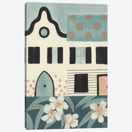 Green Houses Canvas Print #CTA33} by CreatingTaryn Art Print