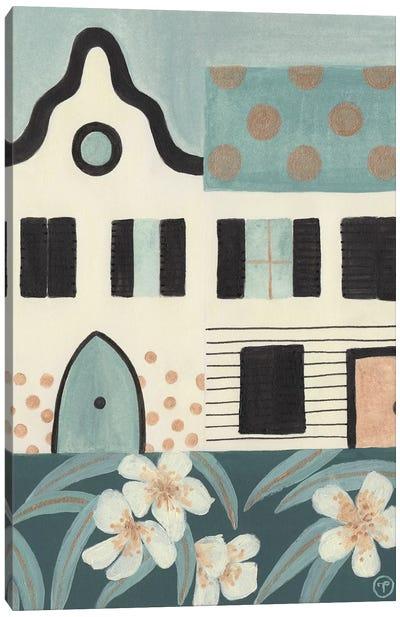 Green Houses Canvas Art Print