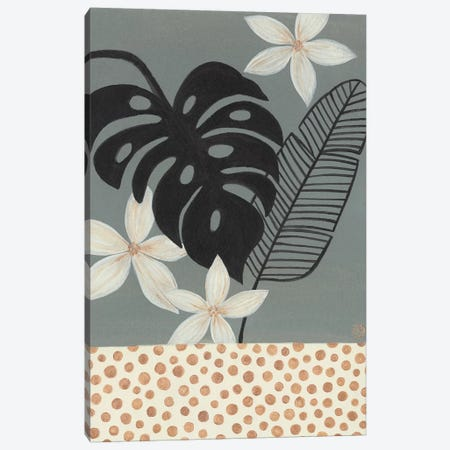 Grey Tropics Canvas Print #CTA36} by CreatingTaryn Canvas Art