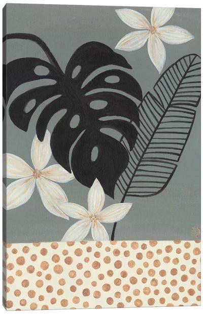 Grey Tropics Canvas Art Print