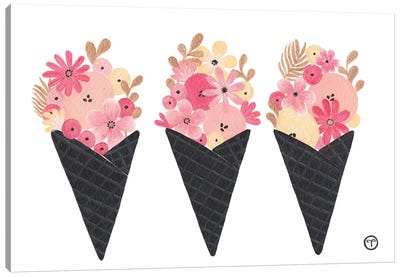 Ice Cream Noir Canvas Art Print