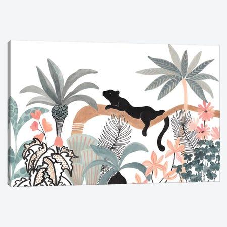 Jaguar In The Jungle Canvas Print #CTA39} by CreatingTaryn Canvas Print