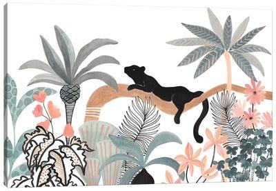 Jaguar In The Jungle Canvas Art Print