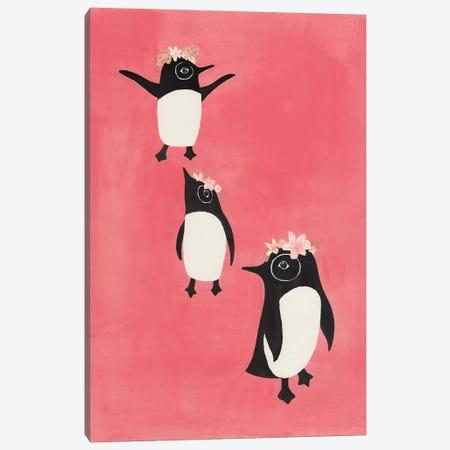 3 Penguins Canvas Print #CTA3} by CreatingTaryn Canvas Artwork