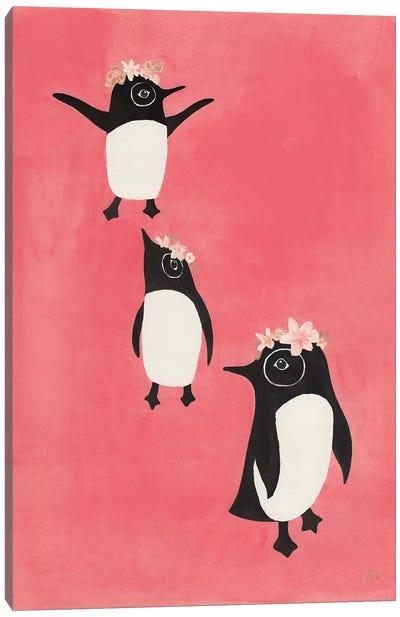 3 Penguins Canvas Art Print