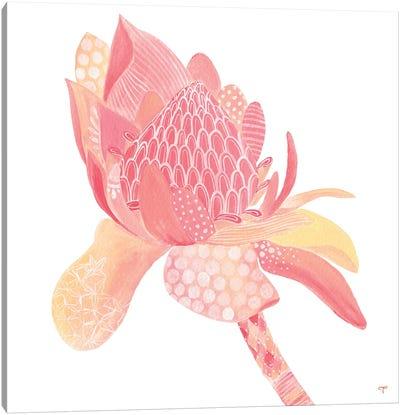 King Protea Paper Canvas Art Print