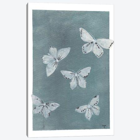 Midnight Butterflies 3-Piece Canvas #CTA43} by CreatingTaryn Canvas Wall Art