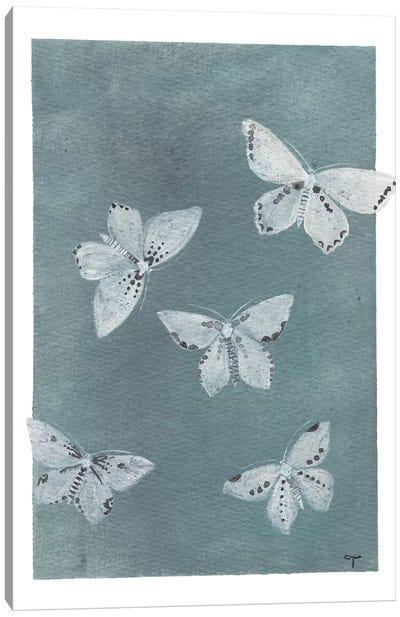 Midnight Butterflies Canvas Art Print