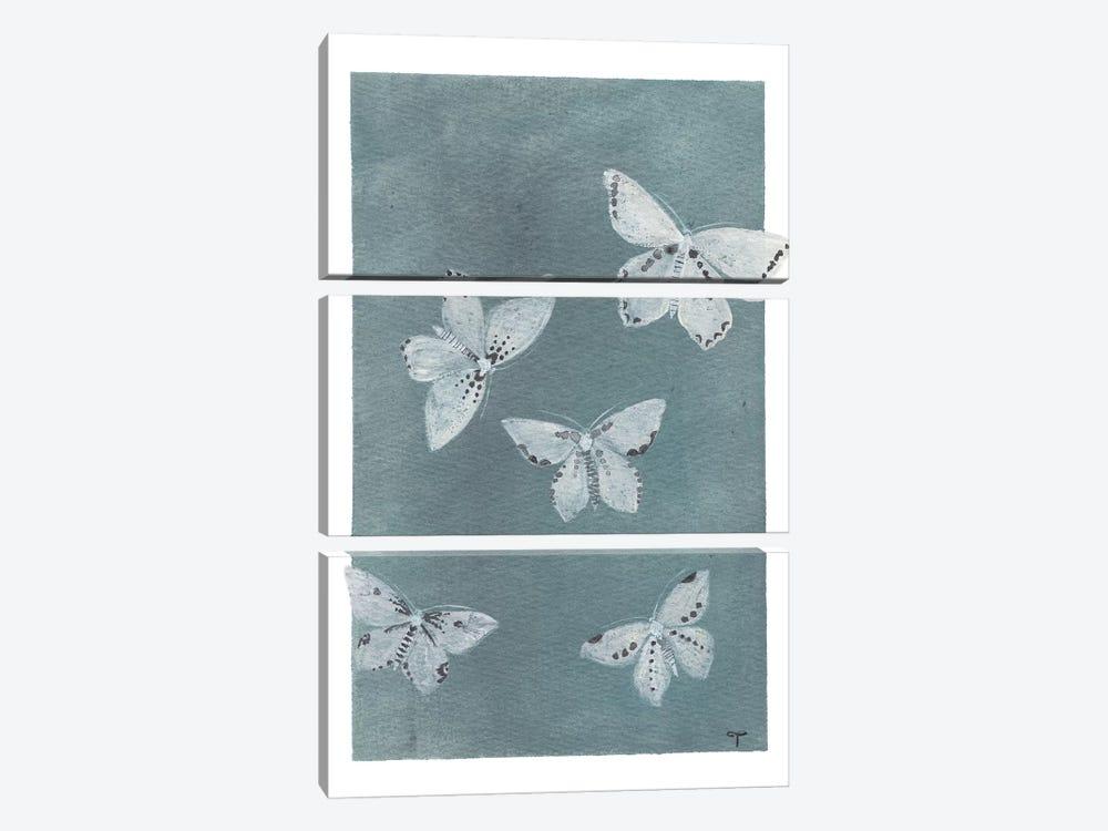 Midnight Butterflies by CreatingTaryn 3-piece Art Print