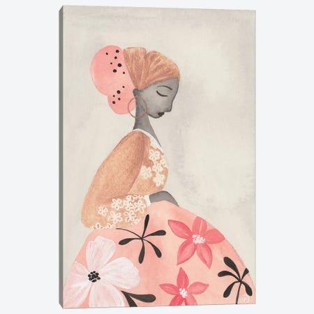 Motherhood Floral Skirt Canvas Print #CTA45} by CreatingTaryn Art Print