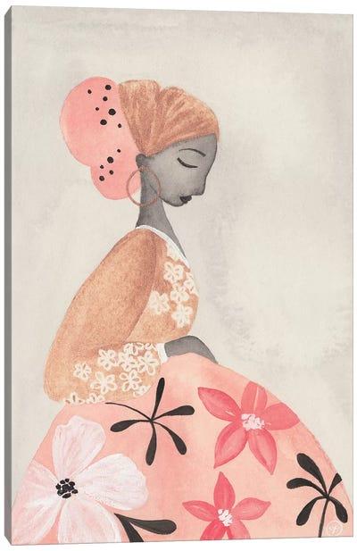 Motherhood Floral Skirt Canvas Art Print