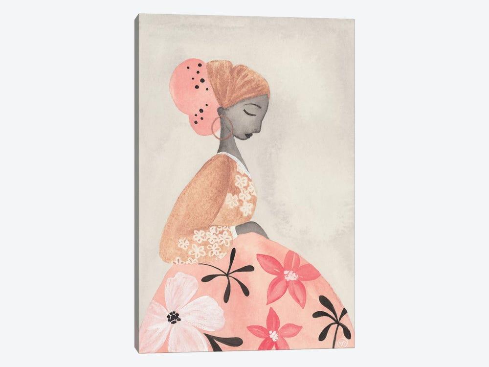 Motherhood Floral Skirt by CreatingTaryn 1-piece Canvas Print