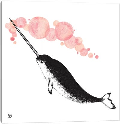Narwhal Paper Canvas Art Print