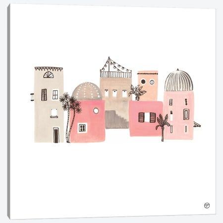 6 Buildings Paper Canvas Print #CTA4} by CreatingTaryn Canvas Art Print