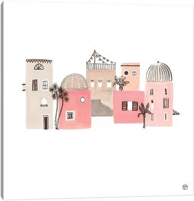 6 Buildings Paper Canvas Art Print