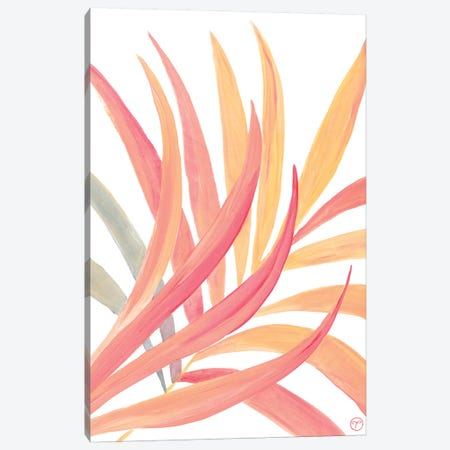Palm Fronds Paper Canvas Print #CTA50} by CreatingTaryn Canvas Print