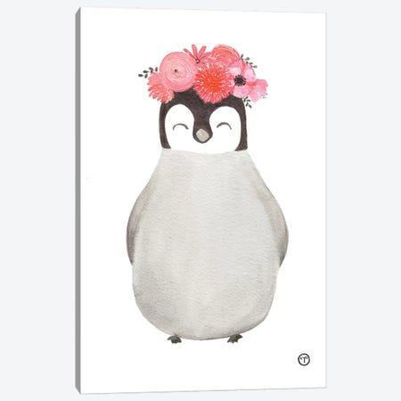 Penguin Paper Canvas Print #CTA52} by CreatingTaryn Canvas Art Print