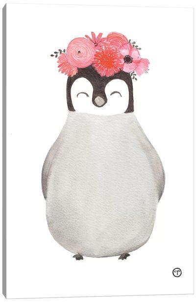 Penguin Paper Canvas Art Print