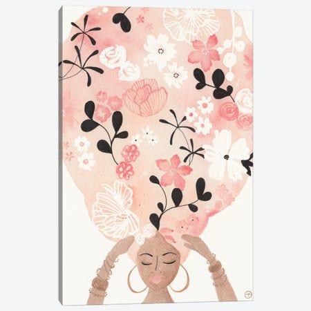 Pink Flower Hair Canvas Print #CTA54} by CreatingTaryn Canvas Artwork