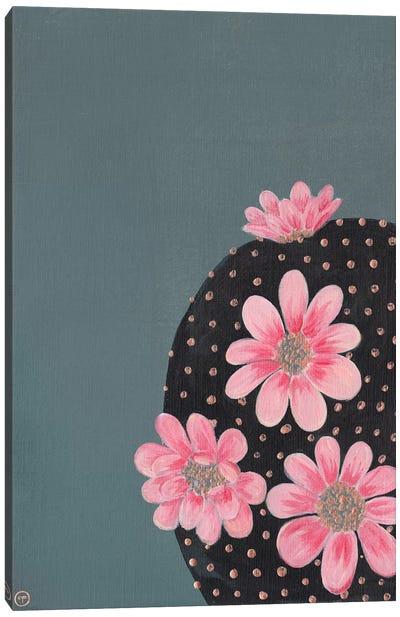 Round Cactus Paper Canvas Art Print