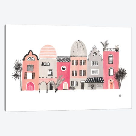 Row Of Houses Paper Canvas Print #CTA60} by CreatingTaryn Canvas Artwork