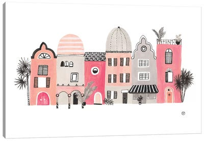 Row Of Houses Paper Canvas Art Print