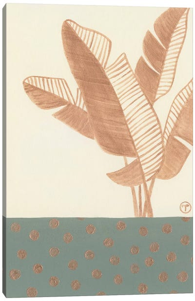 Single Bird Of Paradise Leaf Canvas Art Print