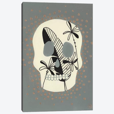 Skull With Canvas Print #CTA64} by CreatingTaryn Art Print