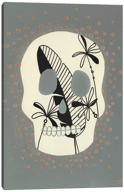 Skull With Canvas Art Print