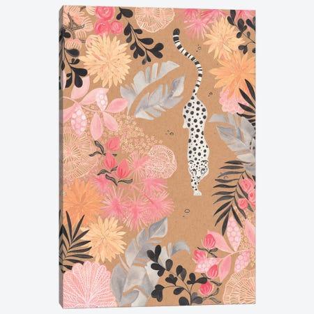 Stalking Leopard Paper Kraft Canvas Print #CTA65} by CreatingTaryn Canvas Print