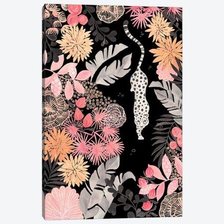Stalking Leopard Paper On Black Canvas Print #CTA66} by CreatingTaryn Canvas Art Print
